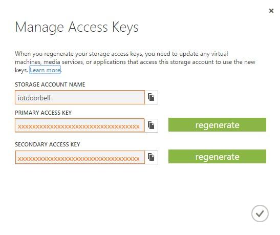 Figure 10: Note Down Access Keys