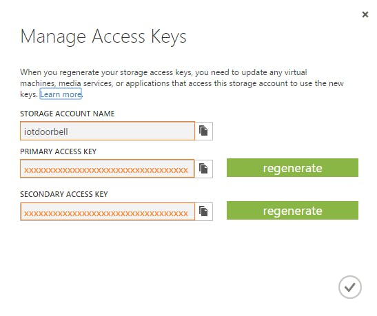 Figure 10: Note Down Access Keys