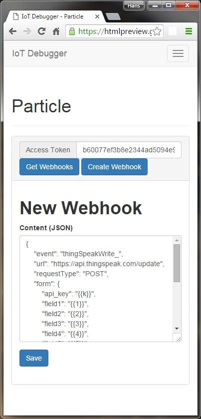 ThingSpeak + Particle Photon using Webhooks - Hackster io