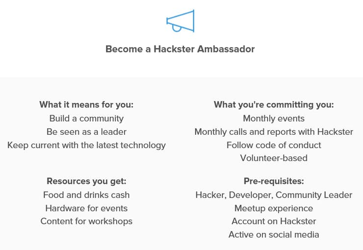 Apply to become a Hackster Ambassador by visiting: http://bit.ly/HacksterAmbassador