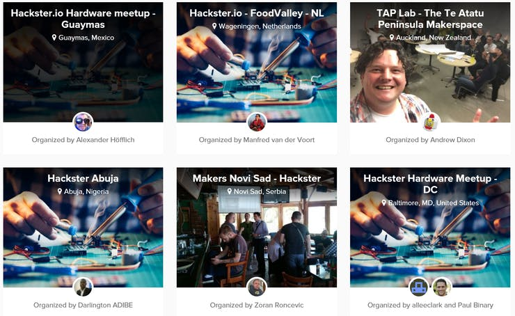 Find a Hackster Live event near you by visiting: https://www.hackster.io/live