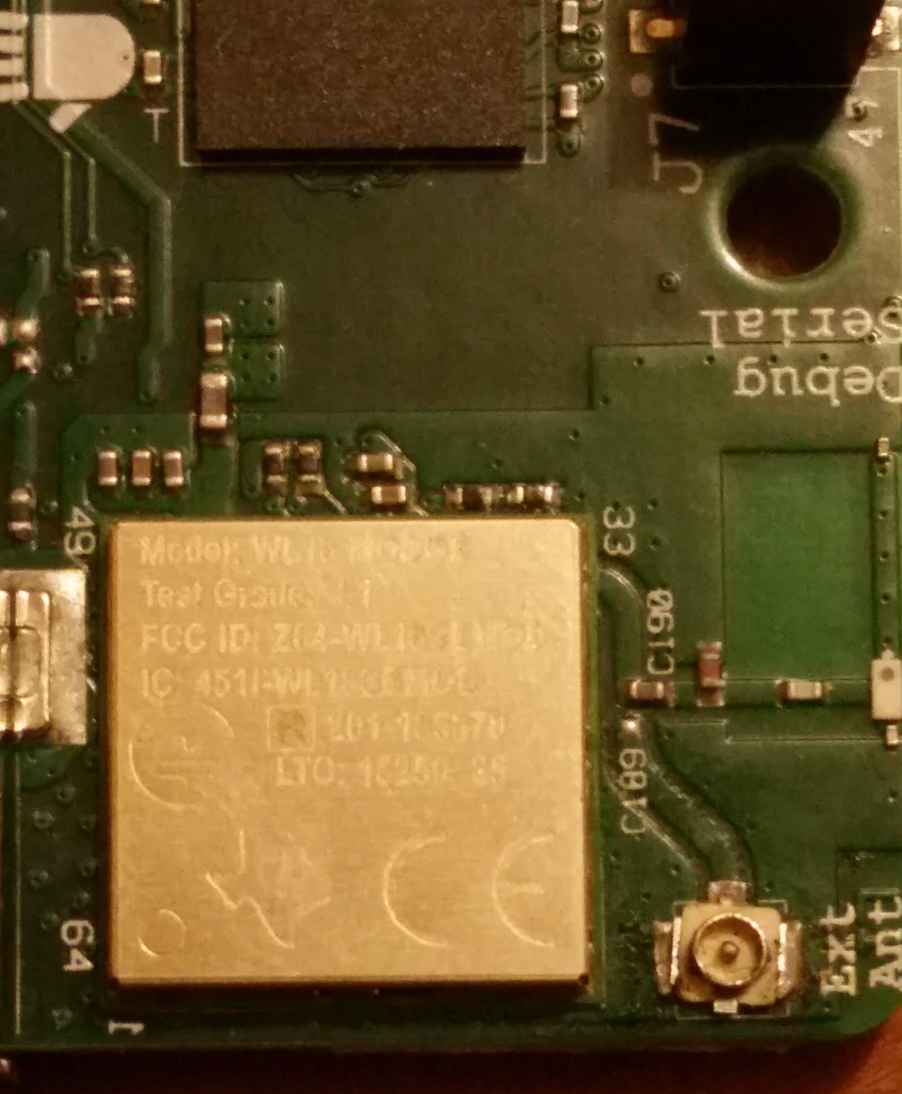 UFL + Capacitor External Antenna Mod