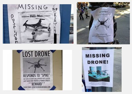 The Googles don't lie, lost drones are a thing.