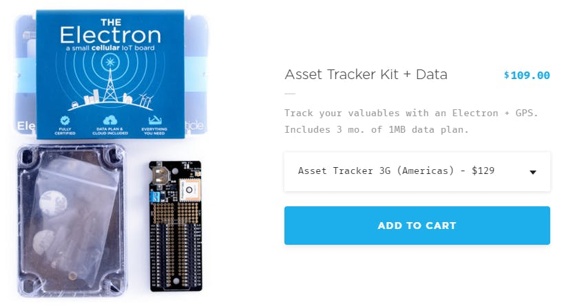 The Particle Electron, with Asset Tracker Kit