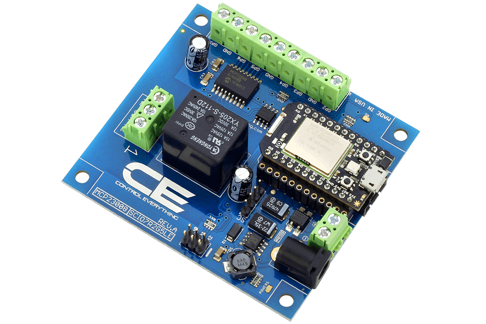 High-Power Relay Shield for Particle Photon I²C 1-Channel SPDT 10-Amp
