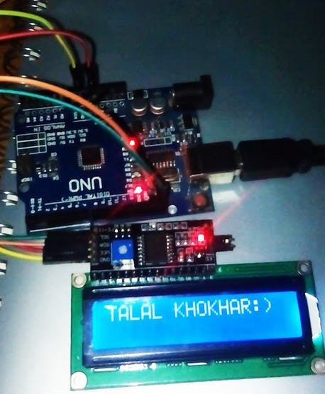 Fig 9: Interfacing of 16x2 LCD with UNO