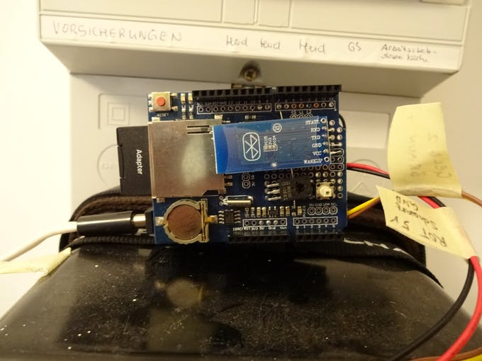 Bluetooth module on top of shield stack