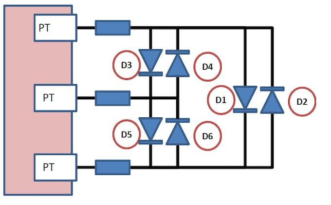 Figure1. Charlieplexed LEDs