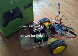 The rover and Xbox One controller