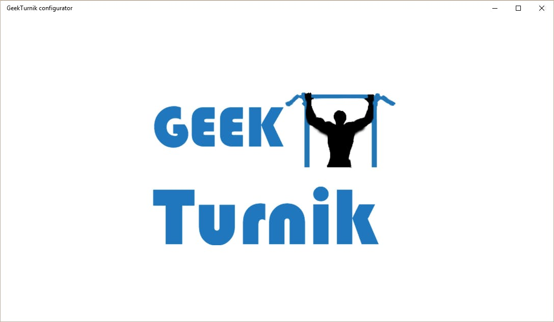 Geekturnik configurator splash screen