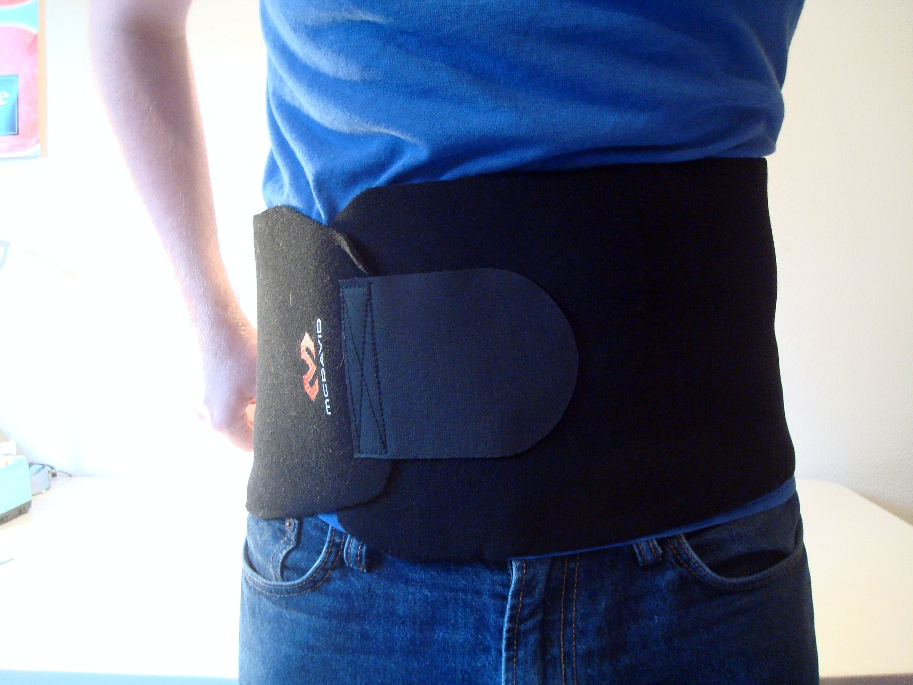 To start, we need to figure out the placement of the tactors facing the cardinal directions. Put on the belt with the attachment velcro covering your front.