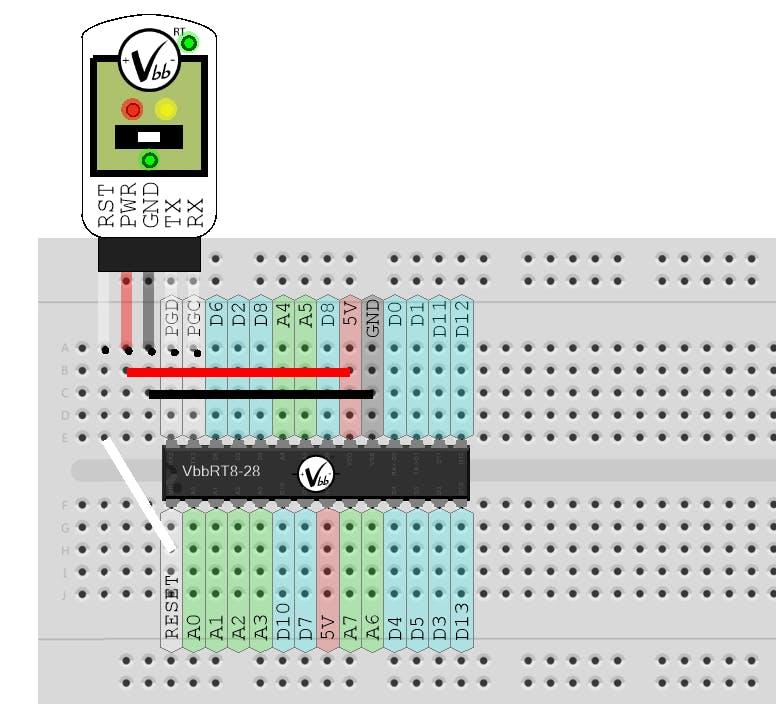 Wiring VbbPROG to VbbRT8-28