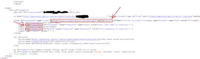 Source Code for Web Login Landing Page