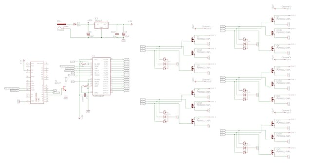 Schematic for the controller