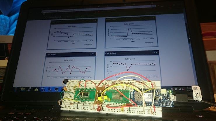 ThingSpeak - Baby-pram monitoring system