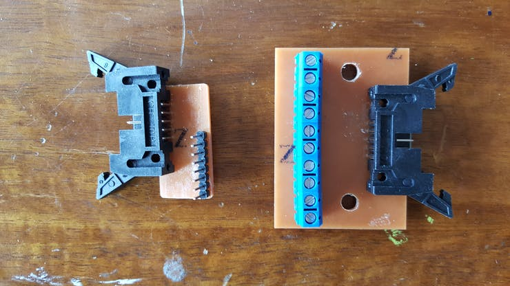 Signal transmit and receive breakout boards (non-buffered version)