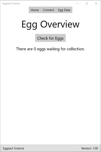 Completed App - Egg Overview Page