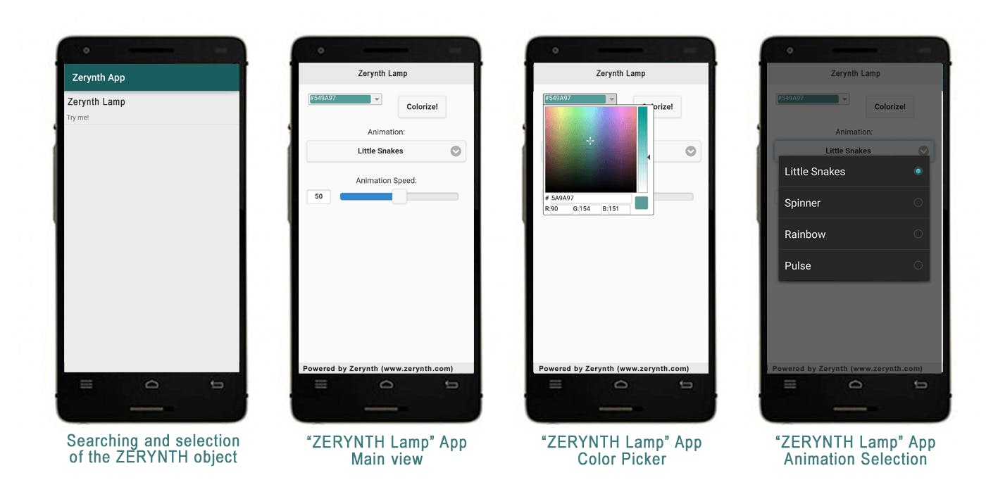 Zerynth lamp app