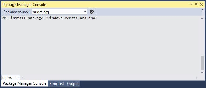 Installing Windows Remote Arduino