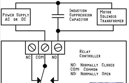 Wiring to implement a supression capacitor