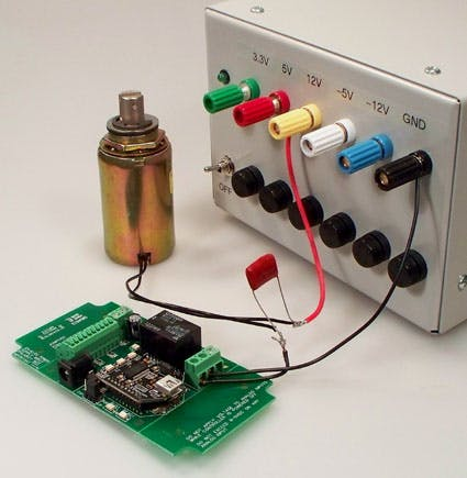 Sample image of a use of suppression capacitor