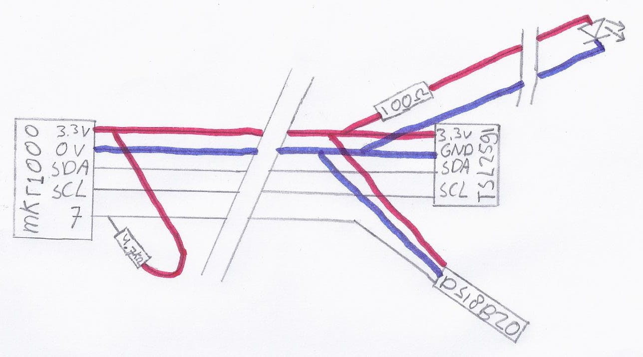 The schematics of the whole circuit