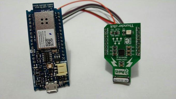 Arduino and Thunder click