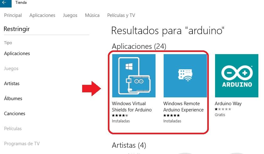 Windows Store for Arduino