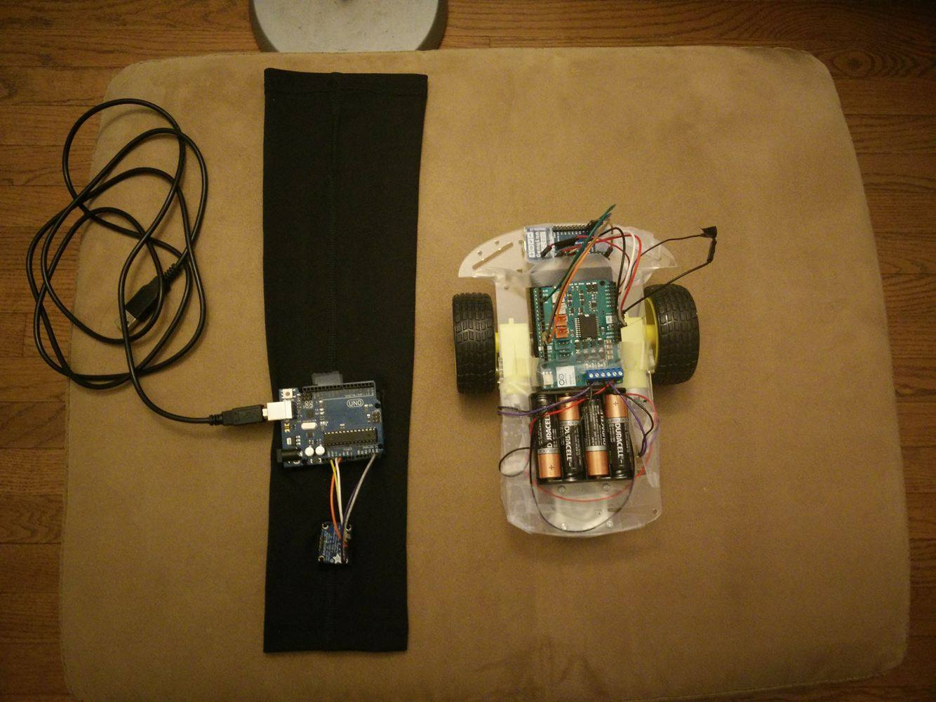 Accelerometer Based Hand Gesture Controlled Robot using