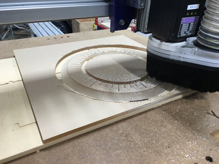 Milling the Bezel - We merged our halves into a single piece