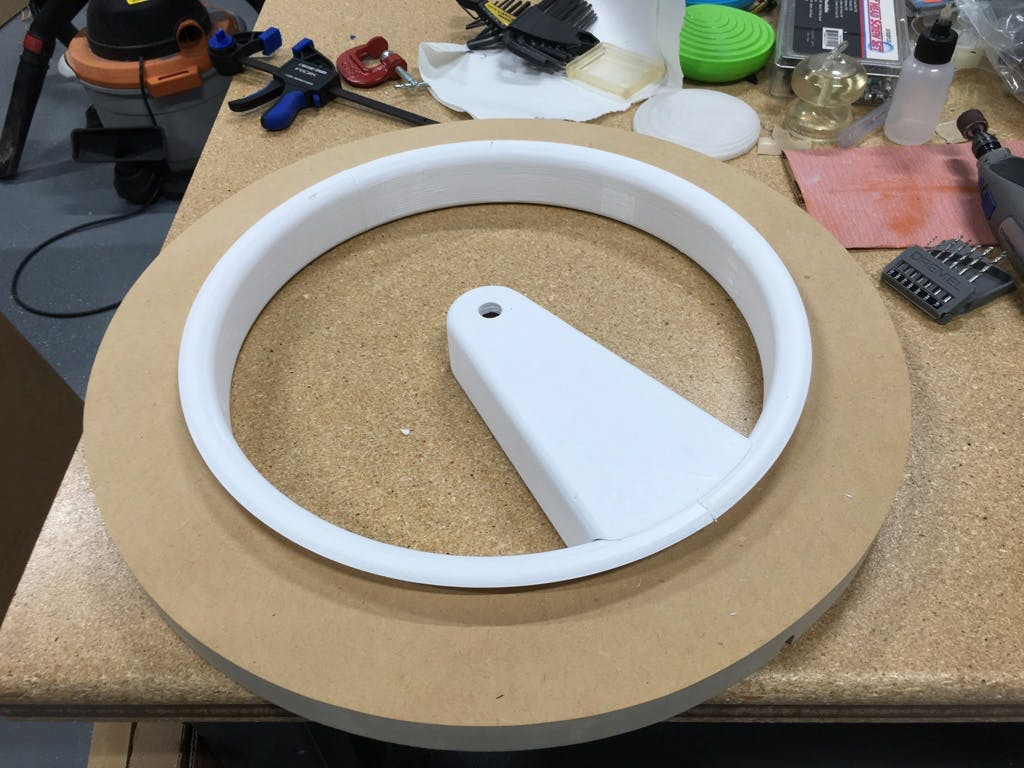The Inner Ring - Glued and ready for the bodyshop.