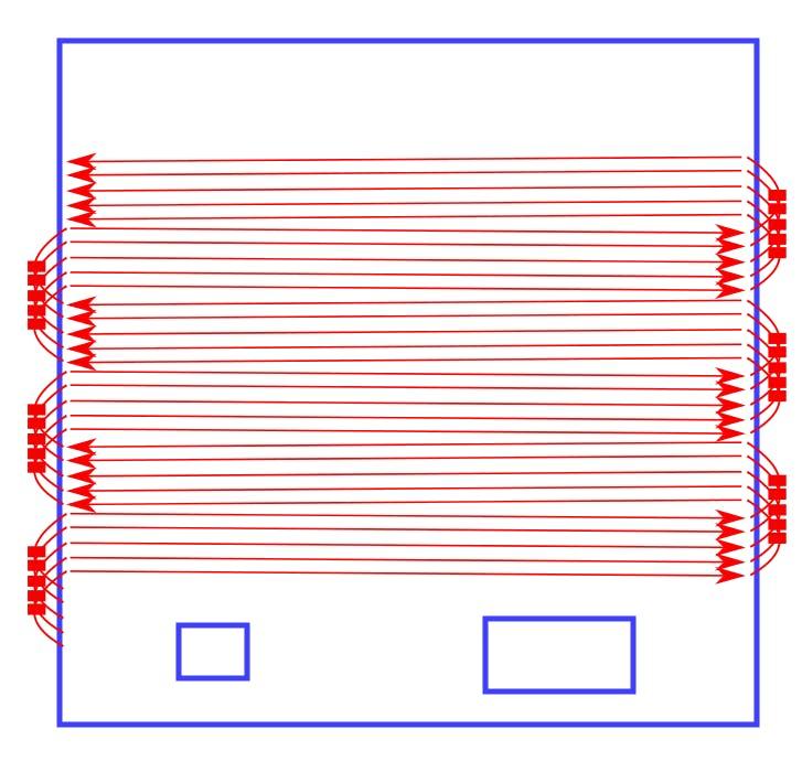 LED Strip Layout Diagram