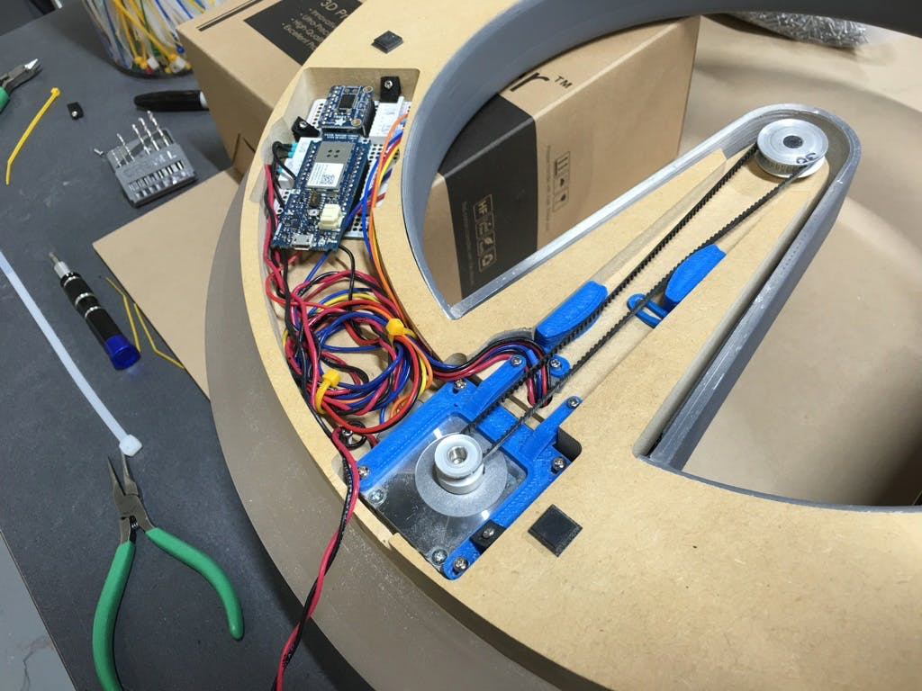 Belt, Pulleys, and Tensioners Mounted with Motor Mount
