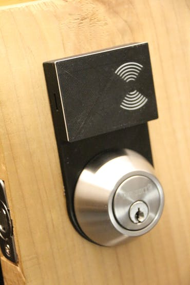 Front of door, RFID unit concealed