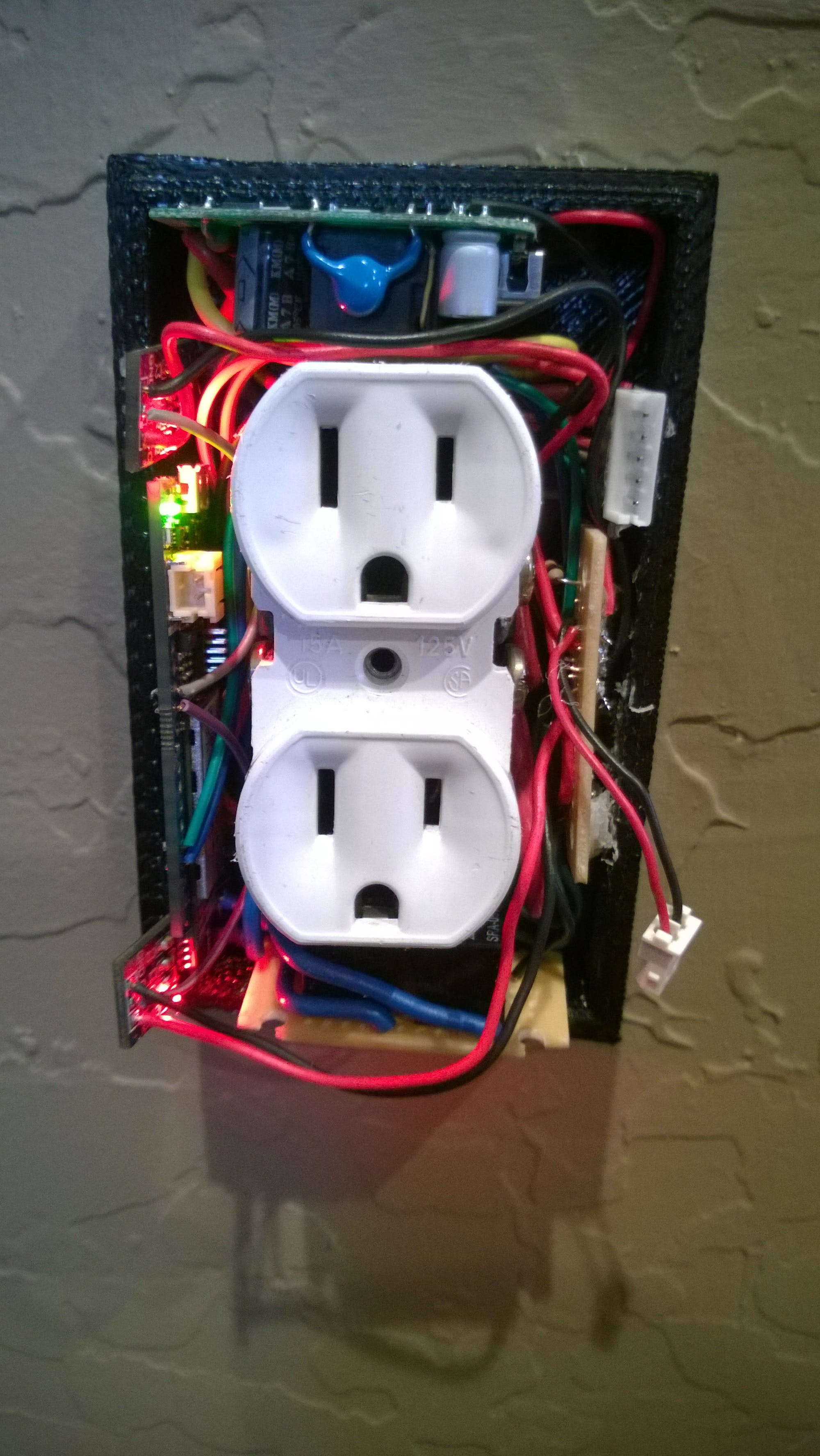 outlet with the cover off