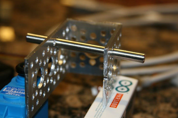 One view of the locking A-bracket