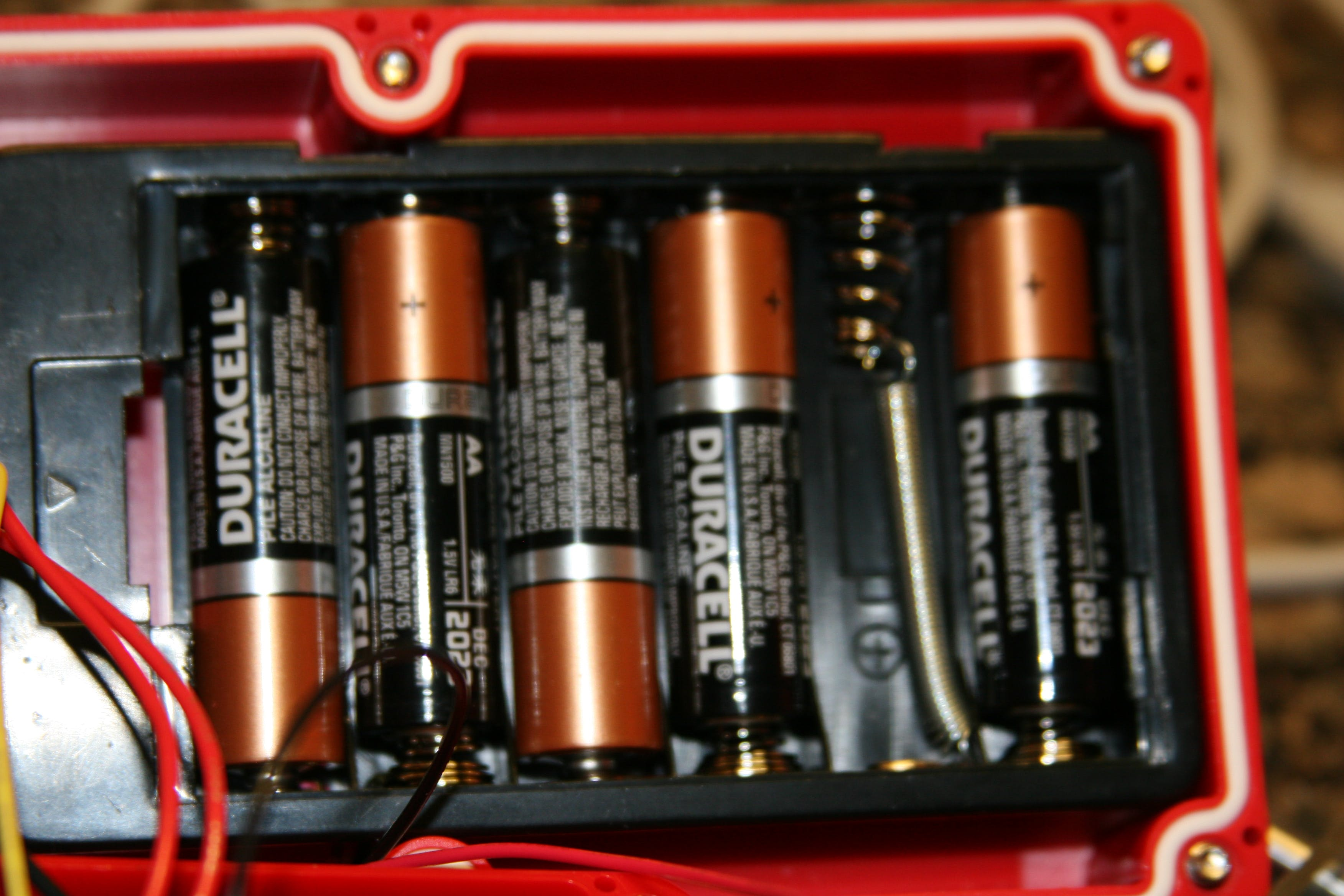 Modified AA battery holder