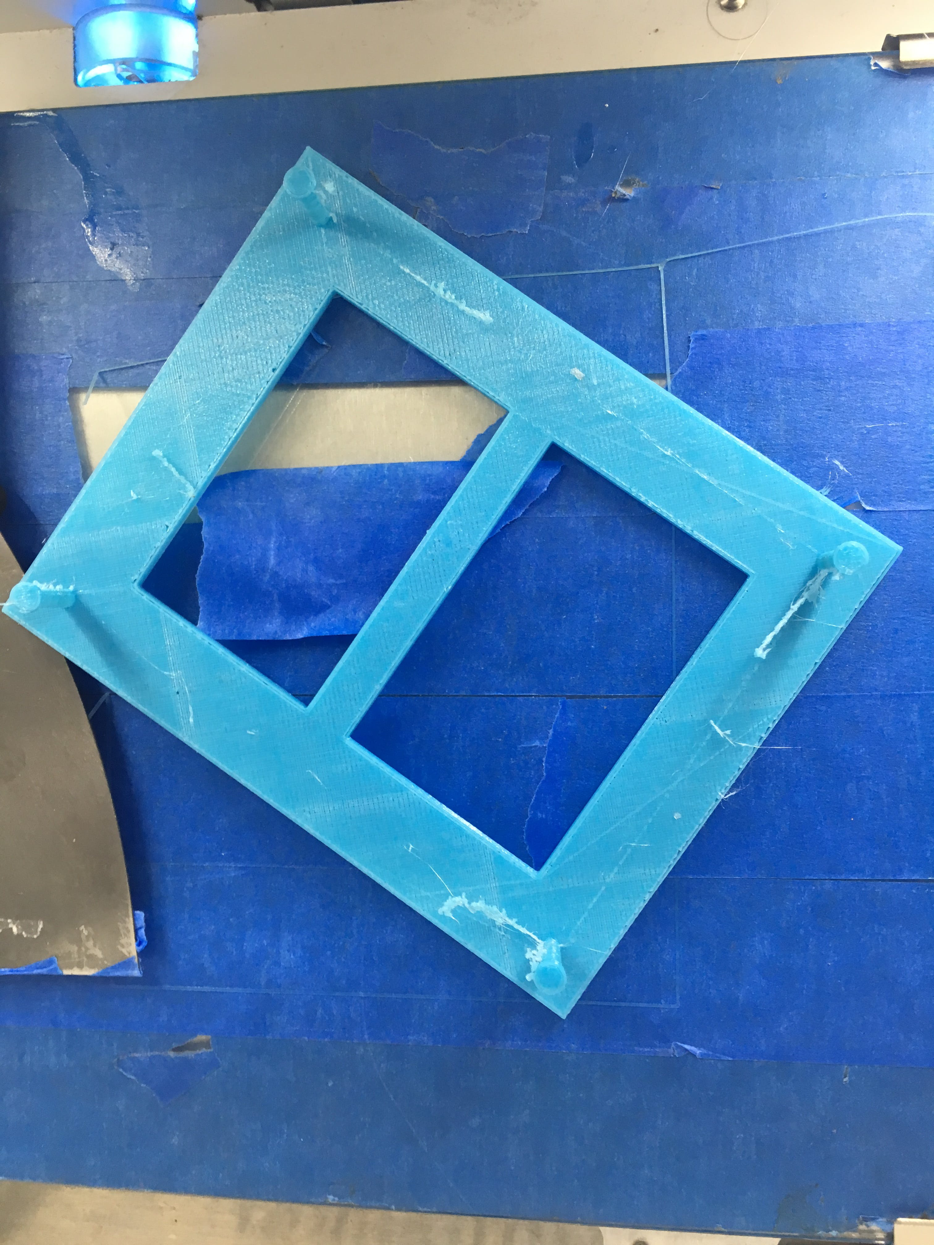A double frame for GLCD and E-ink just from the 3D printer