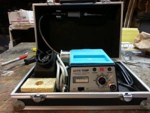 a soldering station on the go. Black Bedroom Furniture Sets. Home Design Ideas
