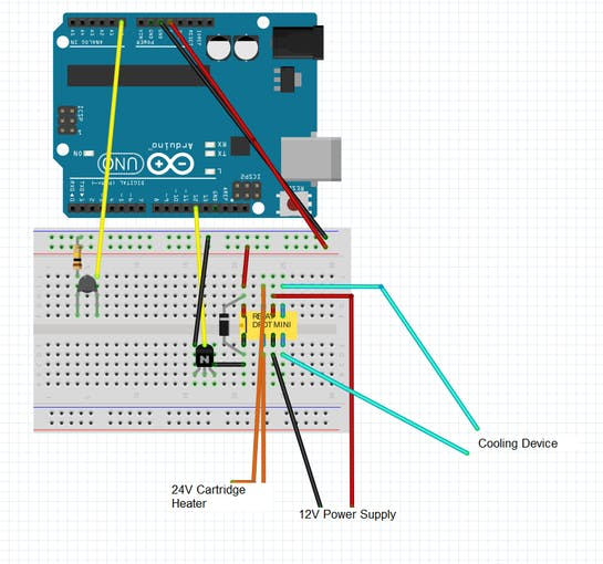 Fritzing Schematic with Arduino UNO(works with MKR1000)