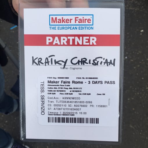 3 DAYS PASS for Maker Faire 2015