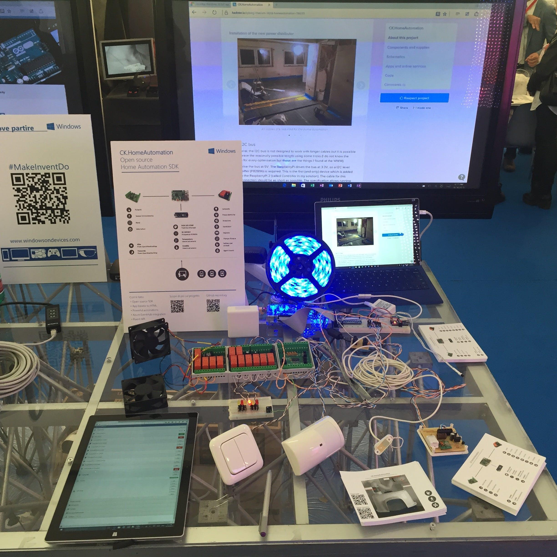 Demo setup at Maker Faire 2015