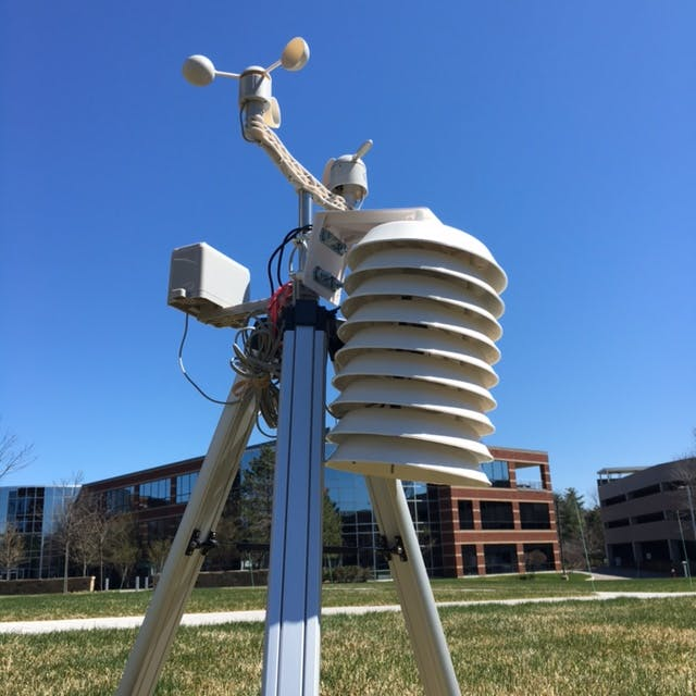 Weather Station mounted outside