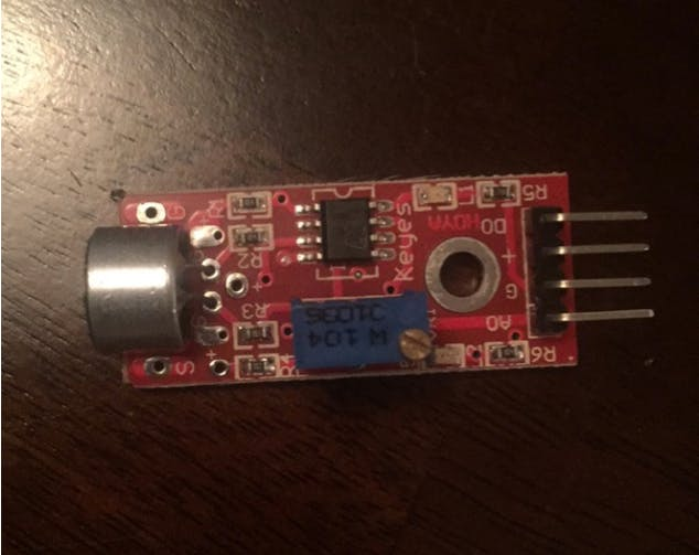 This is the sound sensor we ordered to complete our project.