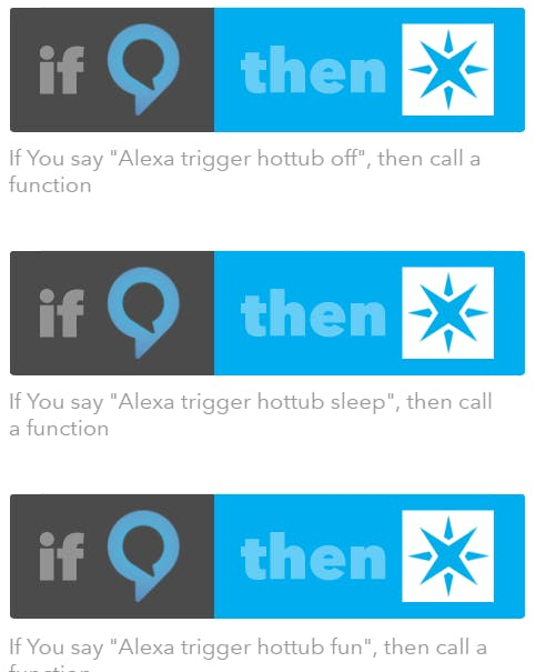 IFTTT / Amazon Echo hot tub integration