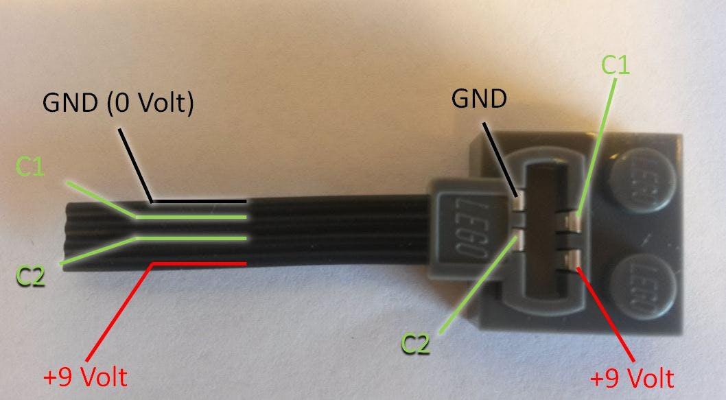 Female Lego plug (pin layout)