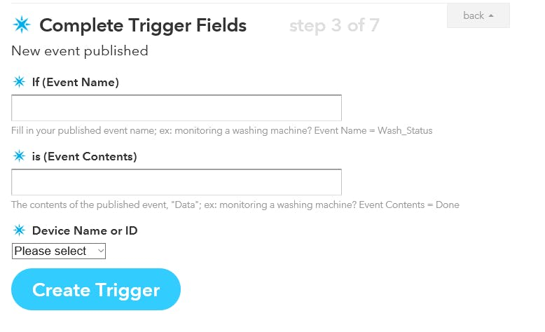 IFTTT particle