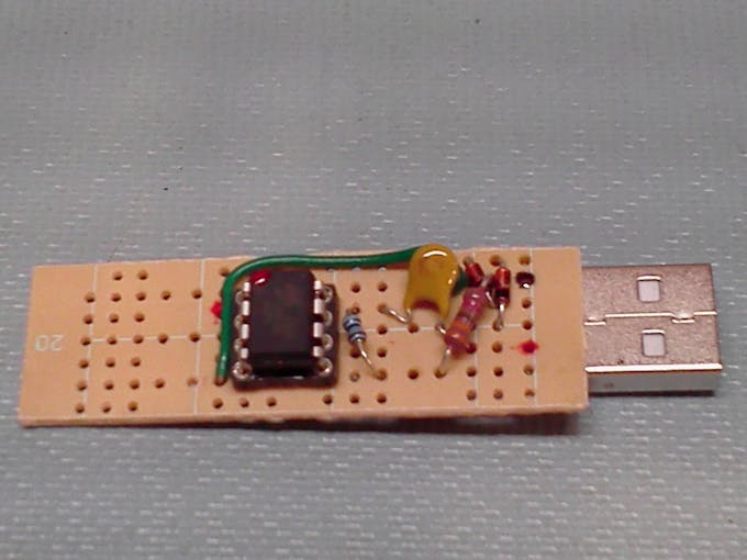 Perfboard with tiny85