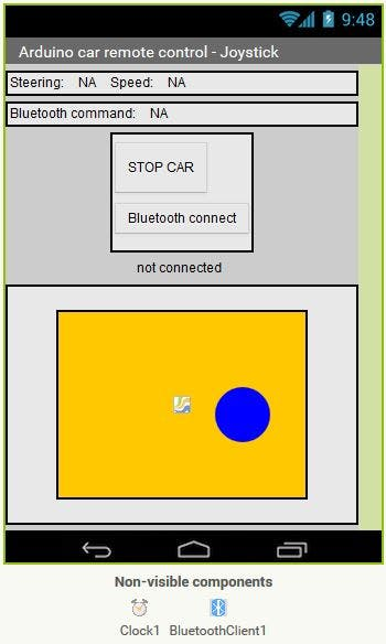 Designer view in MIT App Inventor 2