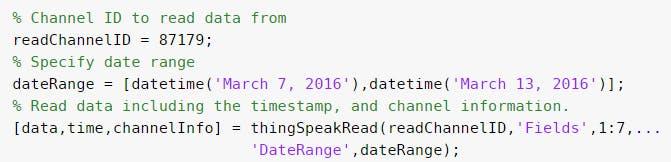 Read data from ThingSpeak